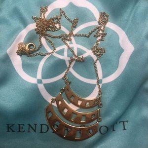 gorjana long gold necklace